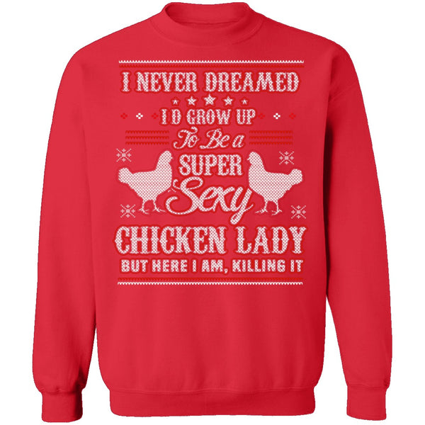 Sexy Chicken Lady Ugly Christmas Sweater CustomCat