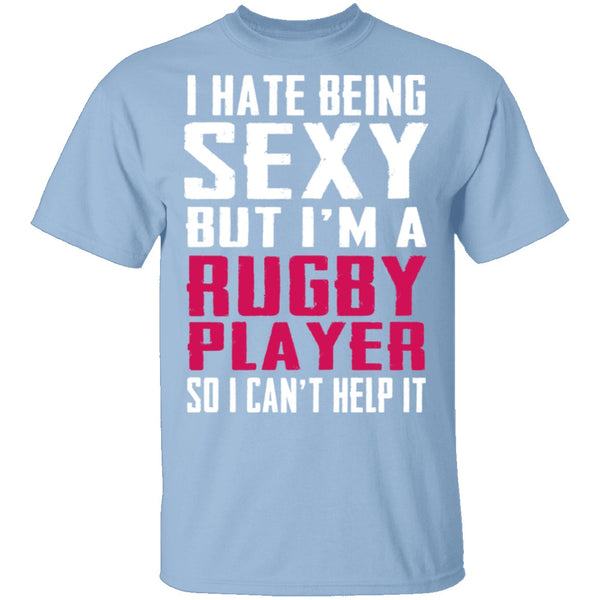 Sexy Rugby Player T-Shirt CustomCat
