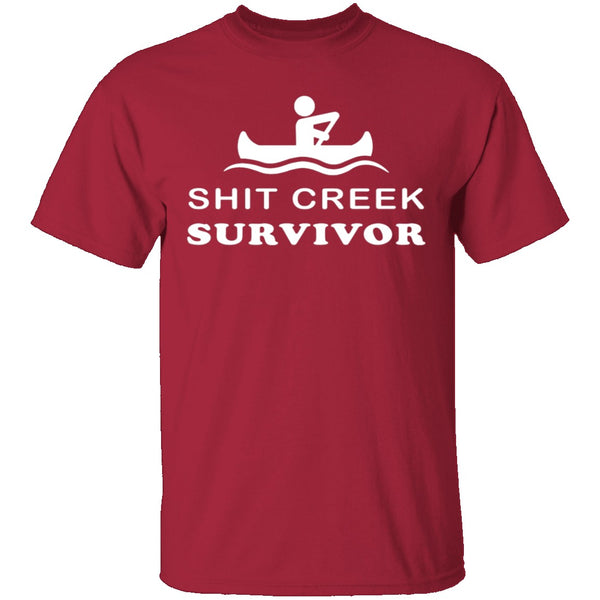 Shit Creek Survivor T-Shirt CustomCat