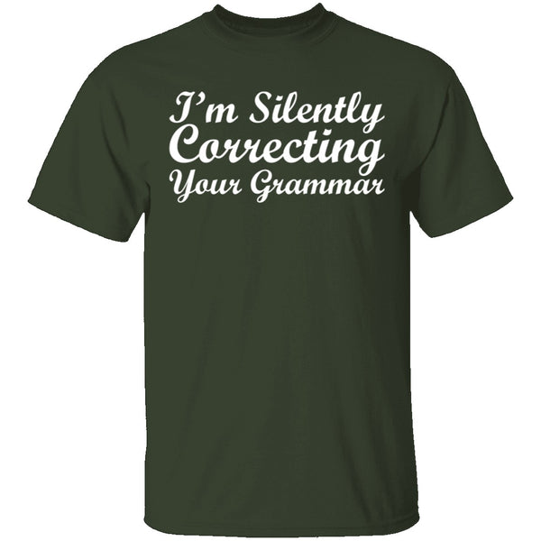 Silently Correcting Your Grammar T-Shirt CustomCat