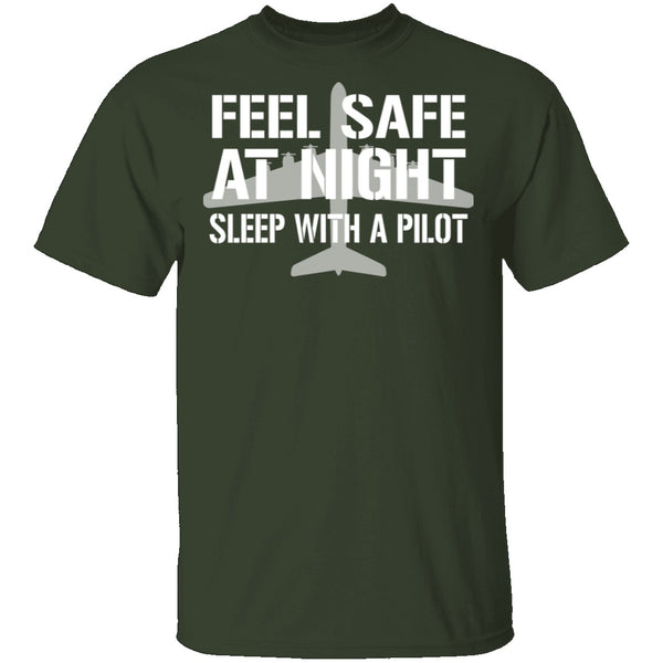 Sleep With A Pilot T-Shirt CustomCat
