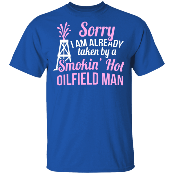 Smokin' Hot Oil Field Man T-Shirt CustomCat