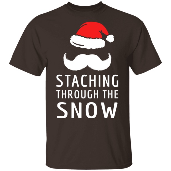 Staching Through The Snow T-Shirt CustomCat
