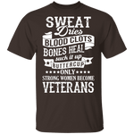 Strong Women Become Veterans T-Shirt CustomCat