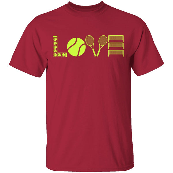 Tennis Love T-Shirt CustomCat