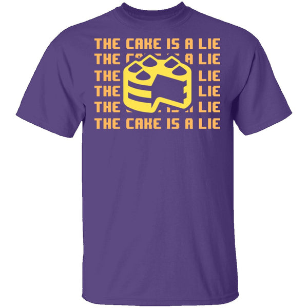 The Cake Is A Lie T-Shirt CustomCat