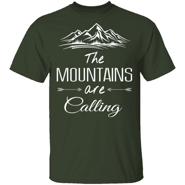 The Mountains Are Calling T-Shirt CustomCat
