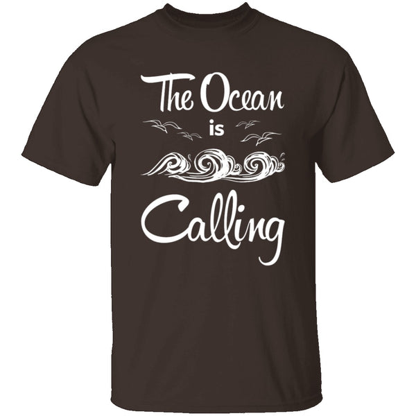 The Ocean Is Calling T-Shirt CustomCat