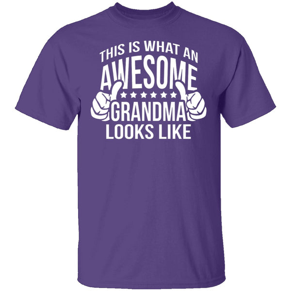 This Is What An Awesome Grandma Looks Like T-Shirt CustomCat