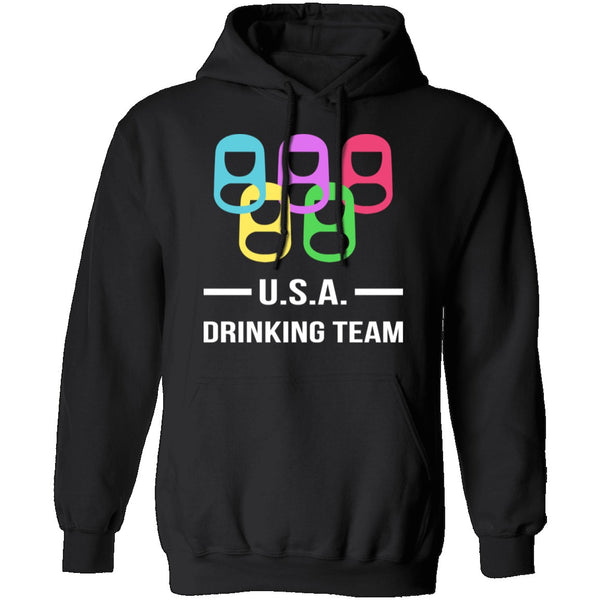 U.S.A. Drinking Team T-Shirt CustomCat