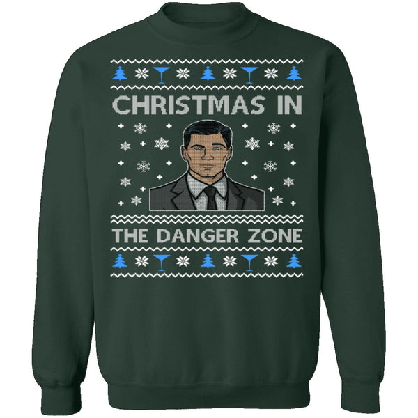 Ugly Christmas Sweater In The Danger Zone CustomCat