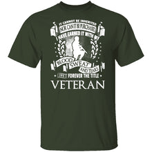 Veteran Blood Sweat And Tears T-Shirt