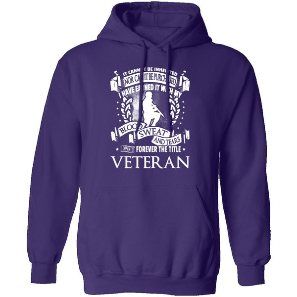 Veteran Blood Sweat And Tears T-Shirt CustomCat