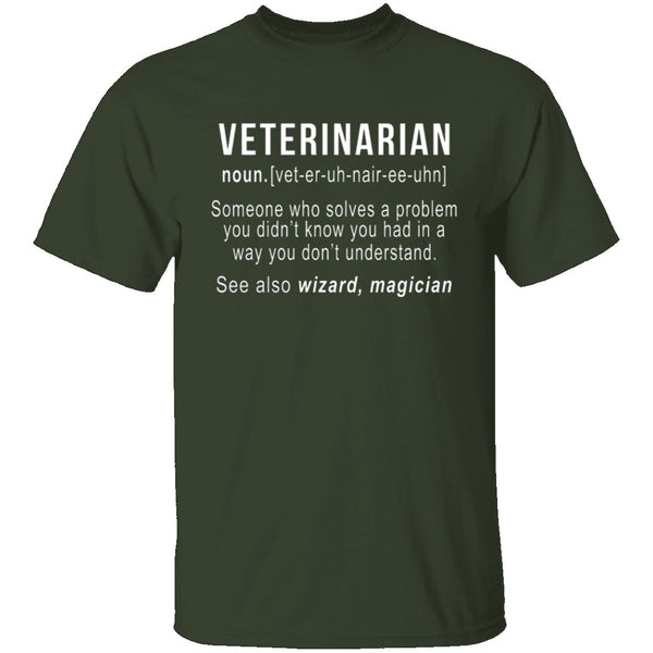 Veterinarian Definition T-Shirt CustomCat