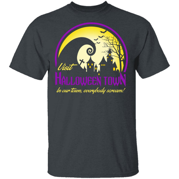 Visit Halloween Town T-Shirt CustomCat