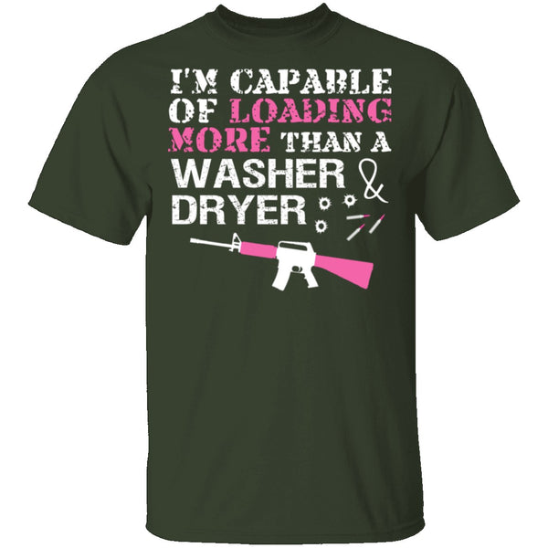 Washer Dryer T-Shirt CustomCat