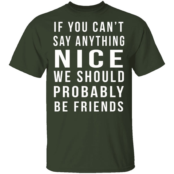 We Should Be Friends T-Shirt CustomCat