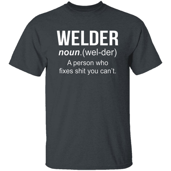 Welder Definition T-Shirt CustomCat