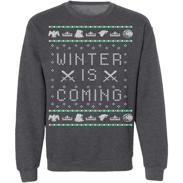 Winter Is Coming Ugly Christmas Sweater CustomCat