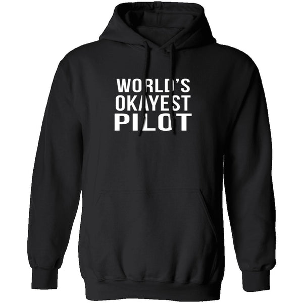 World's Okayest Pilot T-Shirt CustomCat
