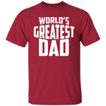 World's Greatest Dad T-Shirt CustomCat