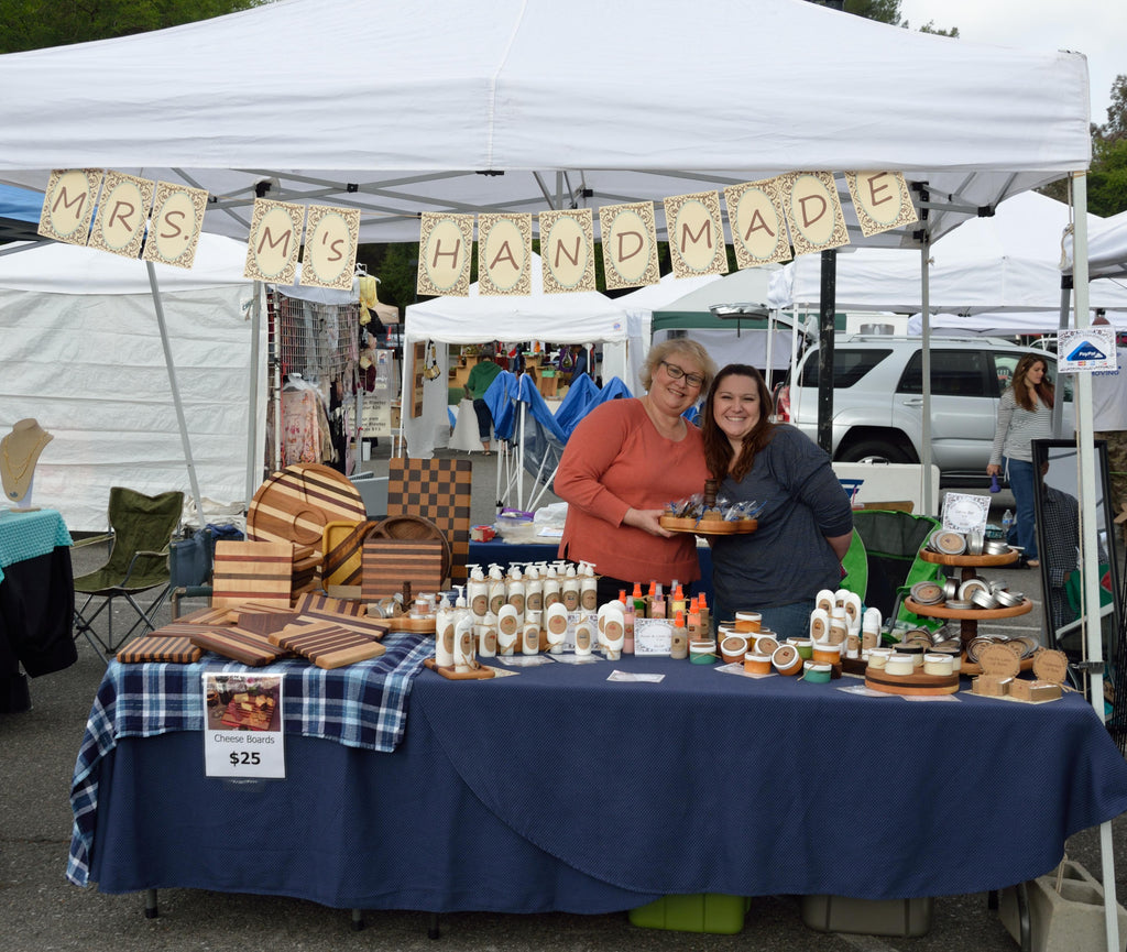 Here we are at the first event for Mrs M's Handmade: Santa Clarita Street Fair, March 23, 2014.