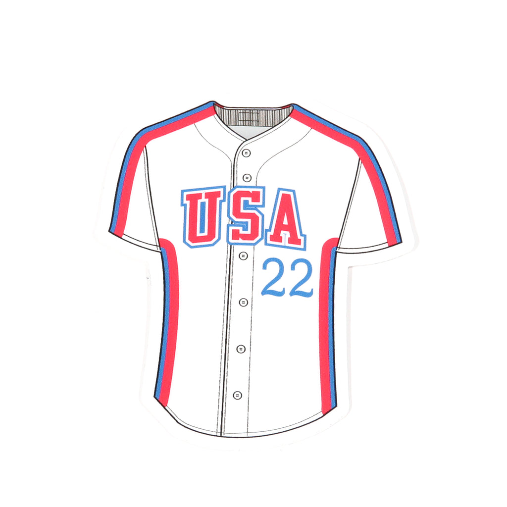 '84 White Retro Block Jersey Decal