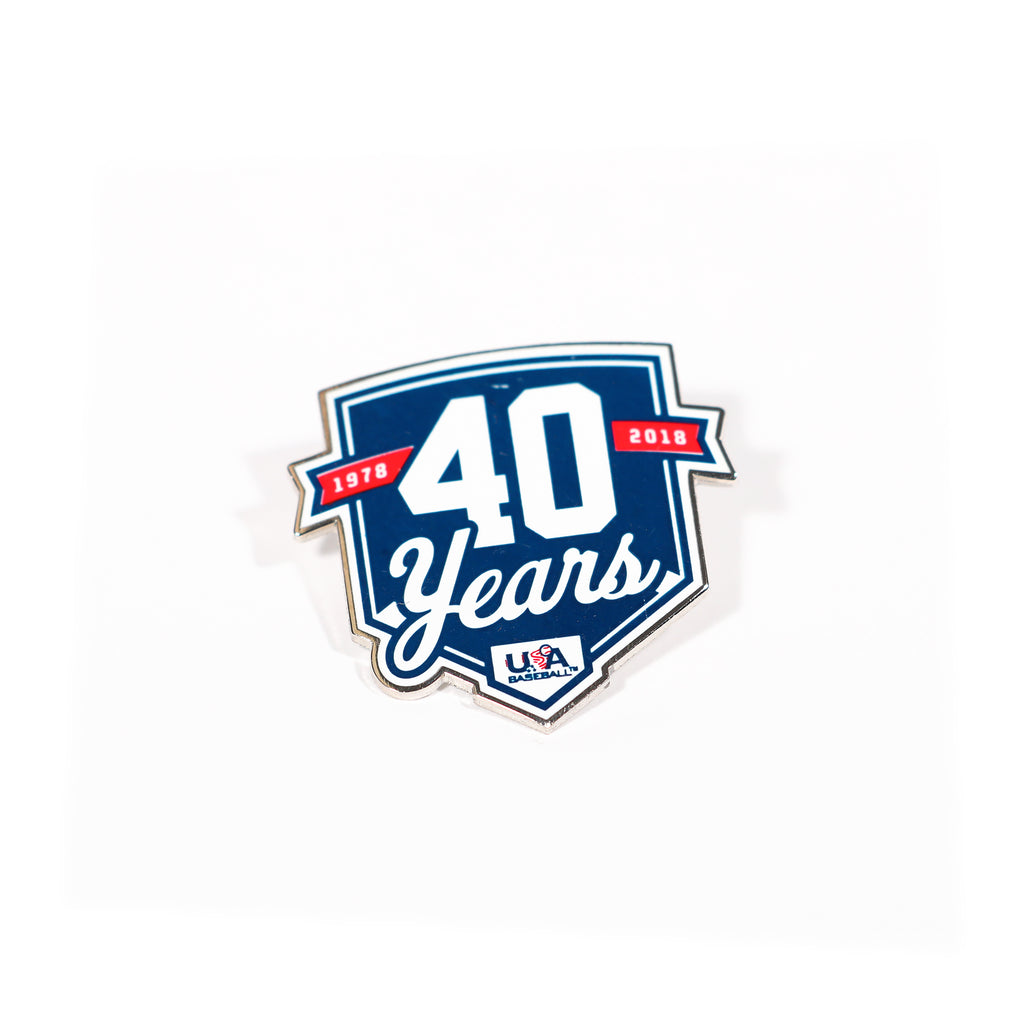 40 Years Lapel Pin