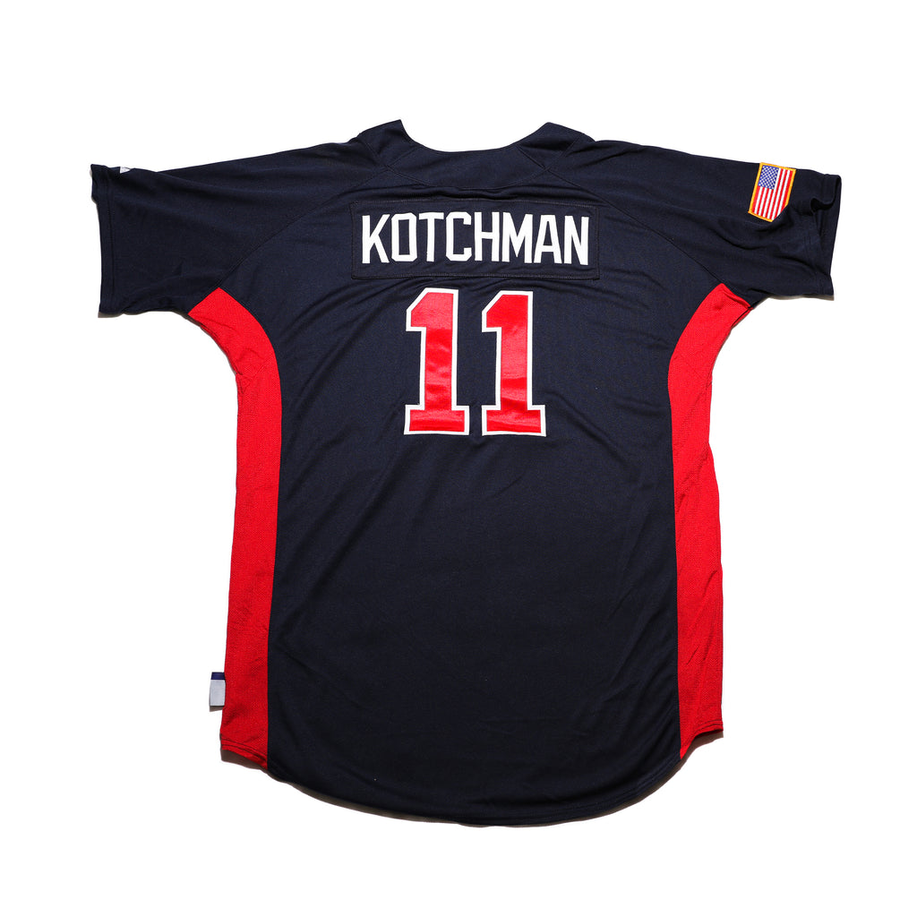 Casey Kotchman Navy Game Worn Jersey