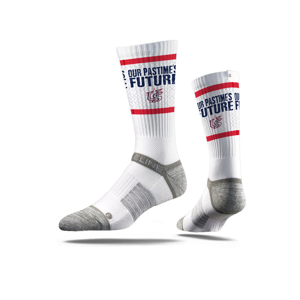 Strideline White Pastime's Future Socks