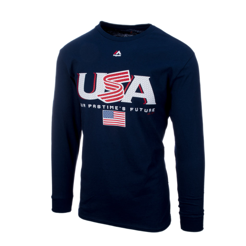 Navy Long Sleeve Authentic Collection Team Drive Tee