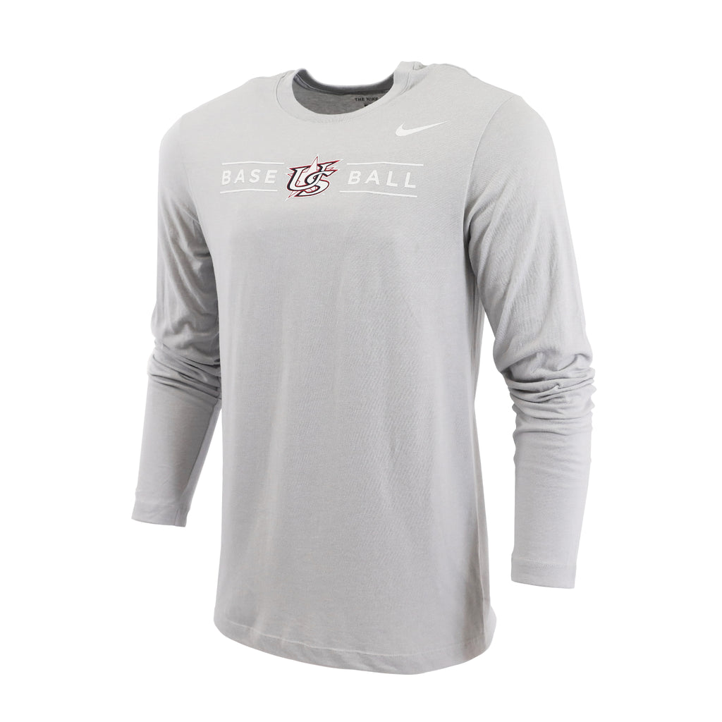 Light Grey Heather Marled Long Sleeve Tee