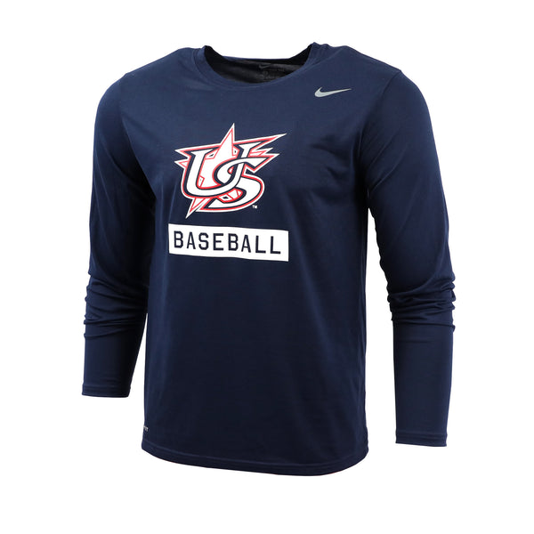 Navy Baseball Long Sleeve Legend Tee