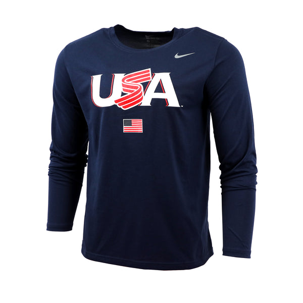 Navy Jersey Logo Long Sleeve Legend Tee
