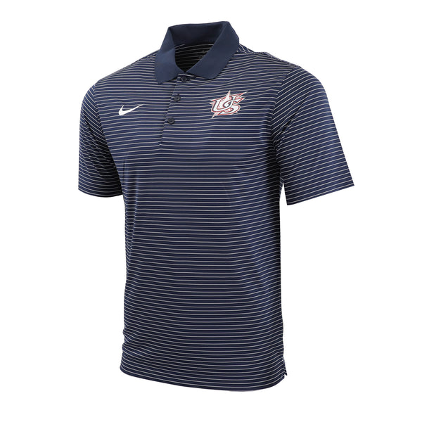 Navy Stadium Stripe Polo