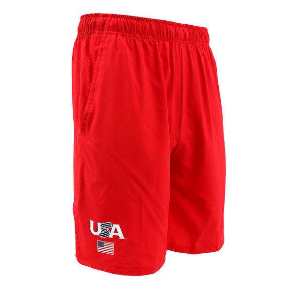 Nike Red Jersey Logo Woven Training Shorts With Pockets