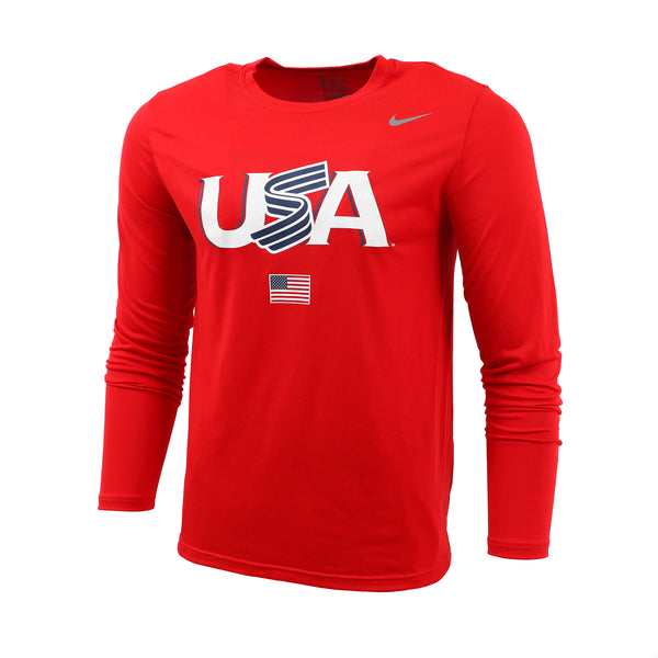 Red Jersey Logo Long Sleeve Legend Tee