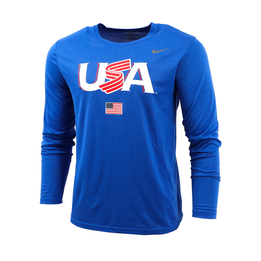Royal Blue Jersey Logo Long Sleeve Legend Tee