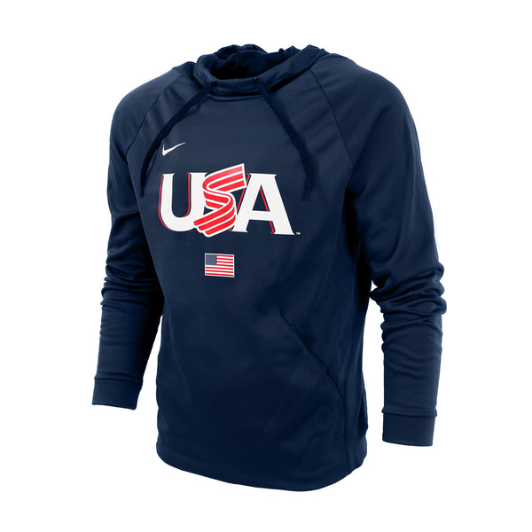 Navy Jersey Logo Therma Hoodie