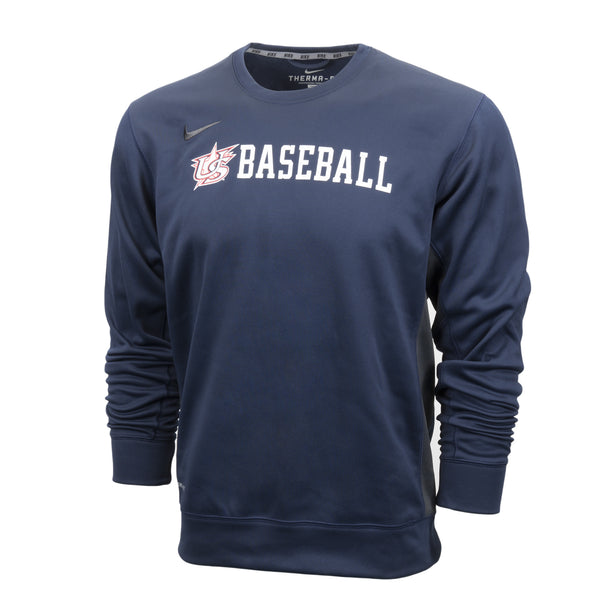 Navy Baseball Crewneck Fleece