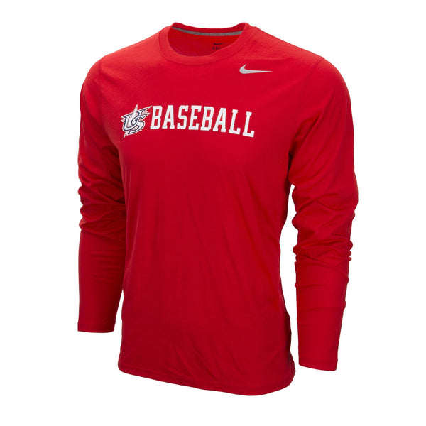 Youth Red Long Sleeve Legend Tee