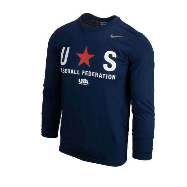Navy Baseball Federation Long Sleeve Legend Tee