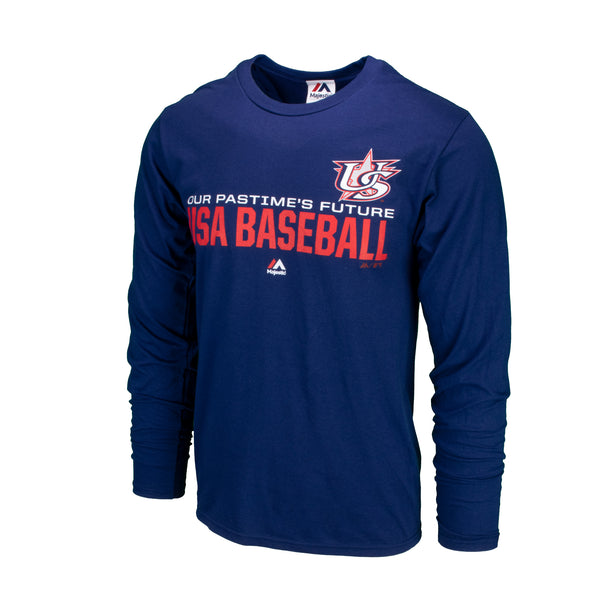 Navy Long Sleeve Authentic Collection Team Distinction Tee