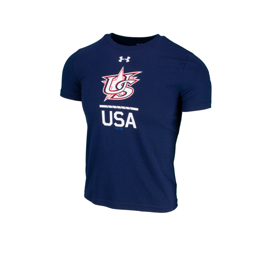 Youth UA Navy Slash Tee