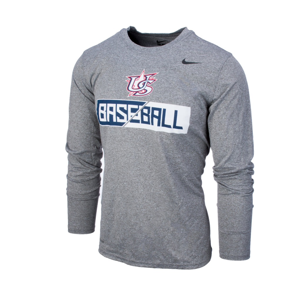Grey Long Sleeve Elite Legend Tee