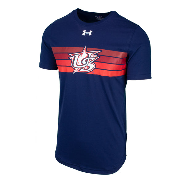 UA Navy Retro Stripe Tee
