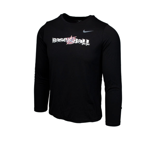 Youth Black Long Sleeve Power Hitter Legend Tee