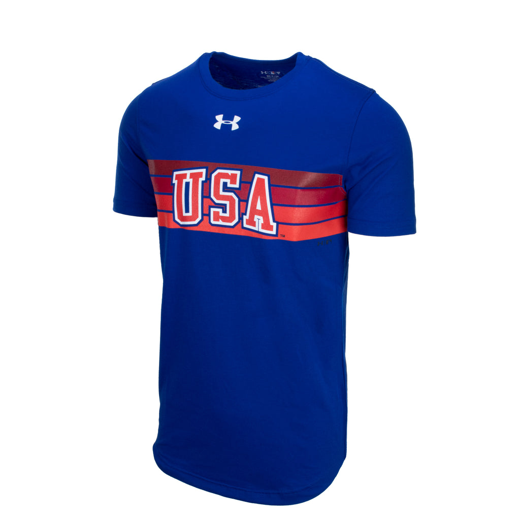 UA Royal Retro Stripe Tee