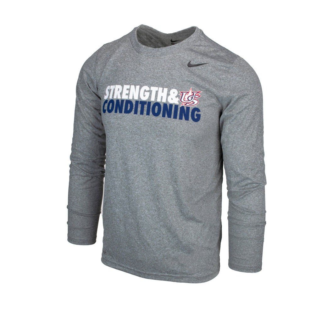 Grey USAB Strength & Conditioning Long Sleeve Legend Tee