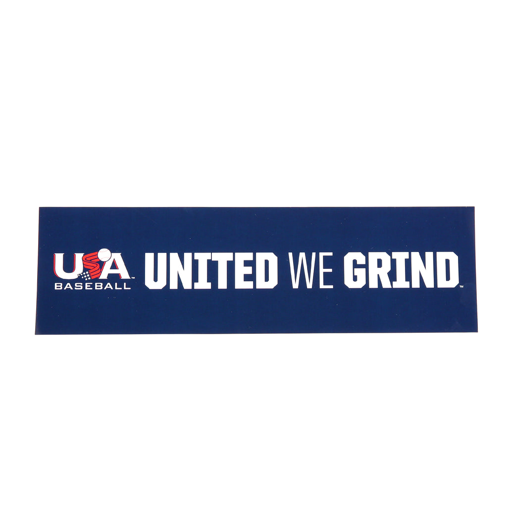 United We Grind Navy Decal